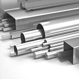 steel beams and tubing