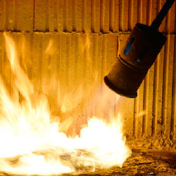 Blowtorch with Fire