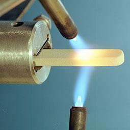 oxygen torches heating metal element
